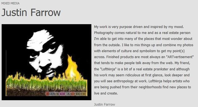 Gawker artists justin farrow