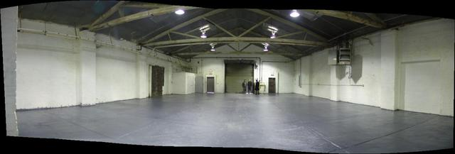 From middle of the warehouse