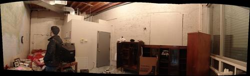 Soon to be restaurant space in converted gas station